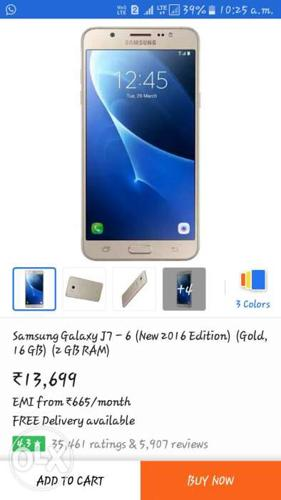Samsung j76 Gold, 3 month use, replesment mobile,