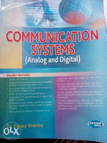 Sanjay sharma BTech text book for ec/ee students latest