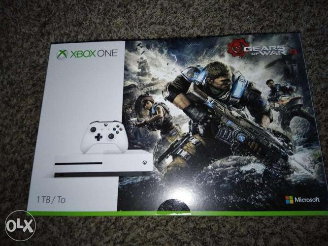 *Sealed* XBox One S 1TB 4K Video Gears Of War 4 Bundle
