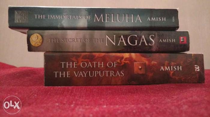 Set of 3 books- Immortals of Meluha, nagas, the oath of