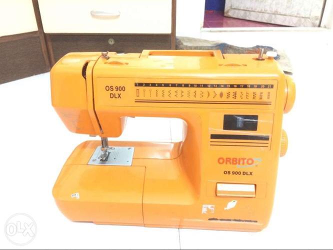 Sewing Machine With Interlock Yellow Orange Orbito Os 40 Dlx For Cool Orbito Sewing Machine Manual