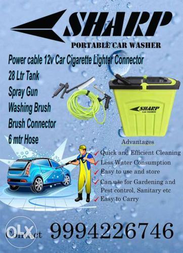 SHARP - Portable Car Washer ( Brand New ) 28 Ltr Tank