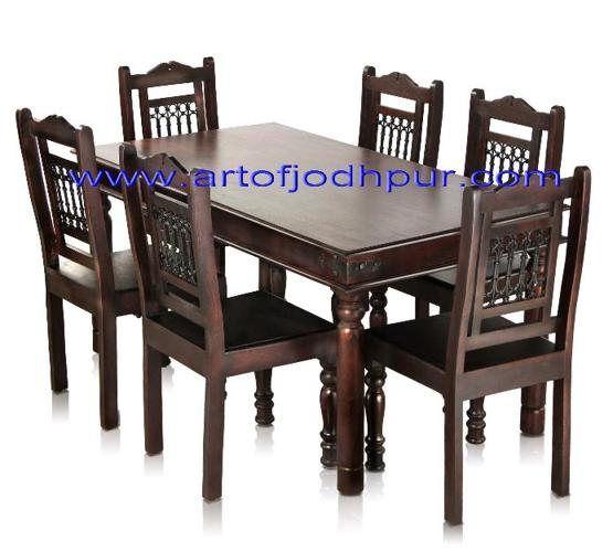 sheesham wood jali dining set jodhpur handicrafts for sale in ludhiana