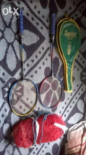 Shuttle cork bat and nylon net for Sale in Perambur