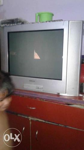 Silver Crt Tv