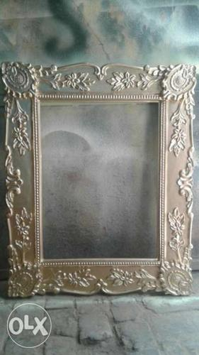 Silver Floral Photo Frame