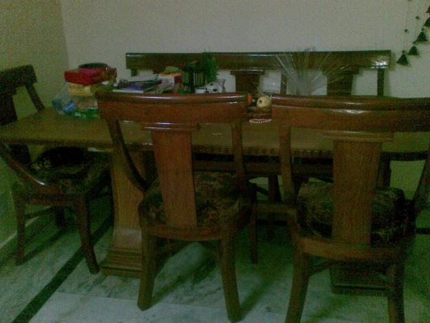 Solid Wood Dining Table For Sale USED For Sale In