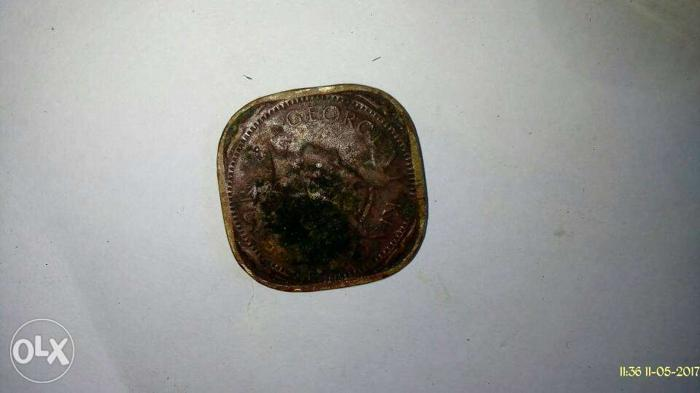 Square Copper Indian Paise