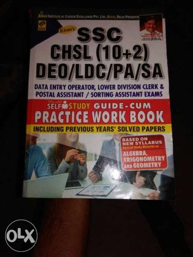 Ssc,chsl,deo,ldc,sa,pa. workbook for 12 pass and