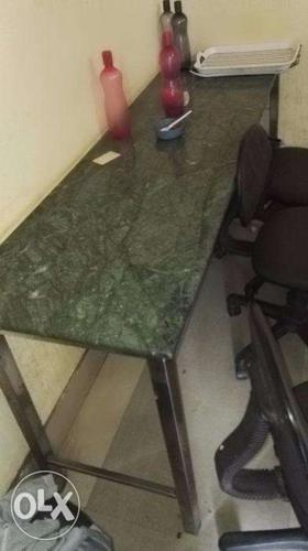 Steel table with granite