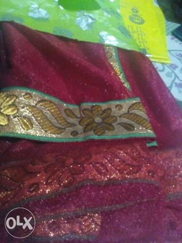 Super net saree. 0 days used. all fir ladies and
