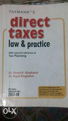 Taxmann's Direct Taxes Law & Practice By Dr. Vinood K.