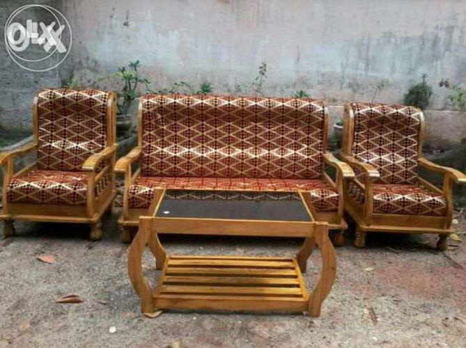 Teak Wooden Sofa Set 3 1 1 23000 Only For Sale In