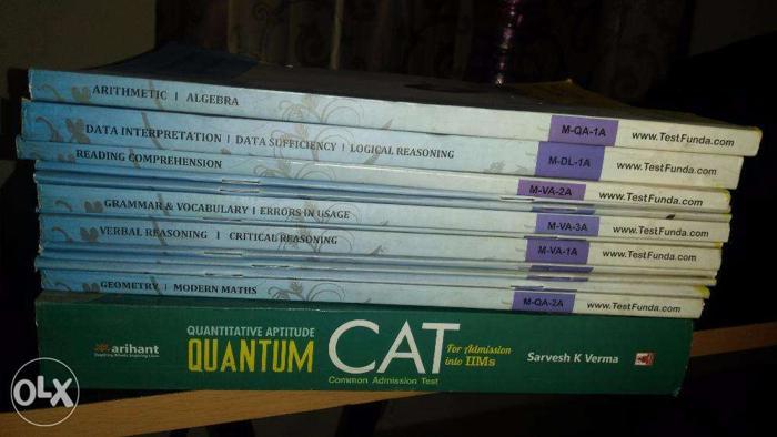 Test Funda CAT Prep Material + Quantum CAT by Sarvesh