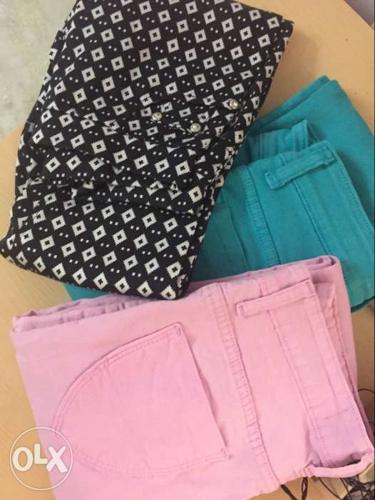 Three brand new pants available only for 1500. All