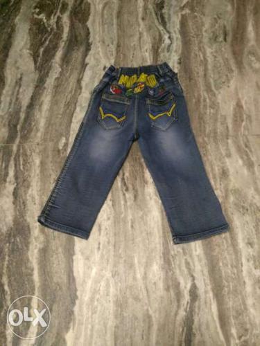 Toddler's Black Denim Jeans