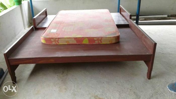 Two teak wood double coat with onemattress