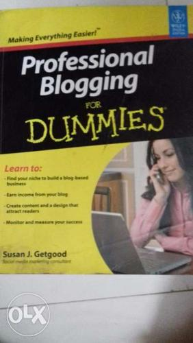 Used Book on Professional Blogging for Dummies