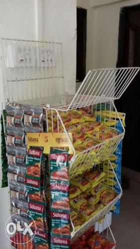 Used supermarket mall racks trollys baskets