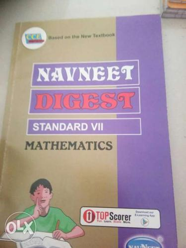 Violet And Gray Navneet Digest Standard 7 Mathematics