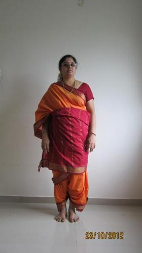 Wear Madisar Saree, ready made very easily