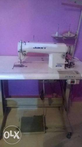 White Jukky Electric Sewing Machine