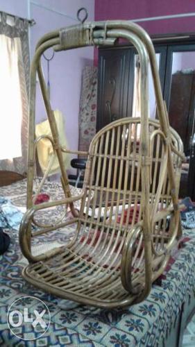 Wicker Brown Swing Chair