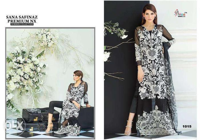 Women's White And Black Traditional Dress Collage