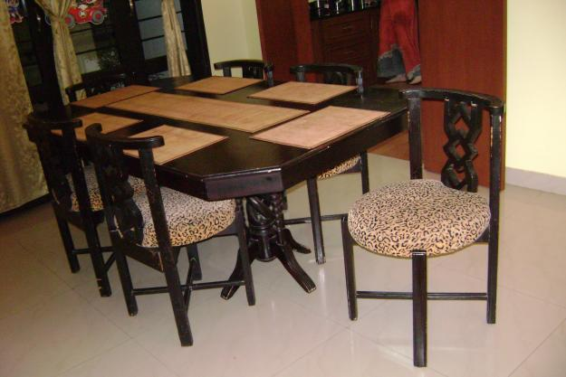 WOODEN DINING TABLE WITH 6 CHAIRS for Sale in Chennai  : woodendiningtablewith6chairs2016661 from chennai.indialisted.com size 625 x 417 jpeg 115kB