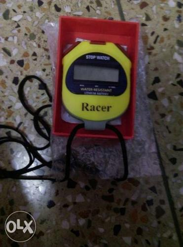 Yellow And Black Racer Stop Watch