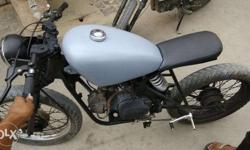 Modified hero honda splendor with great looks engine is in mint condition Looks awesome Single seater Brat or cafe racer In your budget