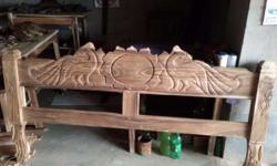 6/7 new bangla khat at rs 13000/-. (By 40 yrs old black siris wood.) And many more furniture at cheap rate.