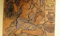 ವಿವರಣೆ Antique Paintings of Nandalal Bose for sale 6' X 10'