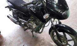 Bajaj pulsar in excellent condition only 17000 km driven scratchless bike tyre tubes are in new condition black in colour