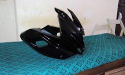Bajaj pulsar 220F front fairing (Black color) for sale..