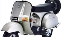 Bajaj Chetak scooter is available for Sale in Dehradun. Scooter is well maintained and single handed driven by Central government employee. Excellent Running Condition Scooter Make Year: 2005 Total Kilometers Driven: 20000 Color: Metallic Grey Excellent