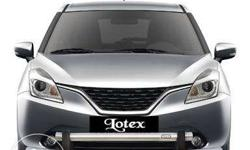 Baleno Front Bumper Guard. Guard is of high quality by ICG.(please ignore the brand logo on the display pic) Used for 2 months. Normal wear and tear on the rods that get fixed under the car. But Front Guard has no scratches etc. It fits on the car body so