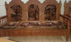 Sagon wood with Bastar Art.