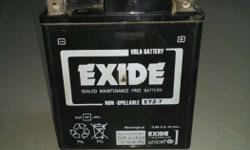 Exide ETZ 7 Original Honda CBR Battery in New like condition. 3 Years Old