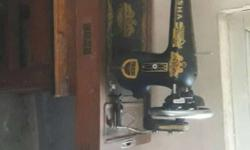 Black And Brown Usha Treadle Sewing Machine