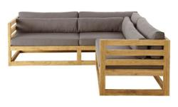 corner Sofa set of wooden corner L shaped wooden sofa set, sal wood sofa Rs 19990 supplied By Furniture mart India. Check www.furnituremartindia.com for designs with prices. Call + 91-9930069346 to order Go for an understated, natural sofa design on your