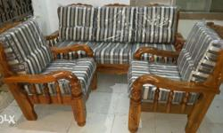 Gorgeous look sofa set Assam teak wood new with cushions