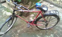 Red color cycle,good condition,smooth riding experience, new tyre and tube