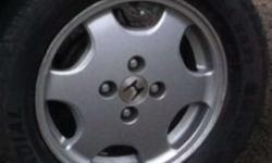 Original company fitted set of 5 alloy wheels of Honda city vtec 2003 model. Looks brand new. Damage free. Interested buyers please contact on the given email is or mobile number. Price slightly negotiable.