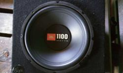 Jbl 1100 Watts subwoofer & bass box in good condition.