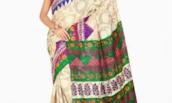 Cloth/Shoes/Accessories: Women Type: Sarees Product Code: HVW106677BRM Fabdeal Casual Wear Cream & Green Colored Kathan Silk Saree With Unstiched Blouse This lovely saree from Fabdeal will enhance your grace, femininity and elegance. The stunning saree