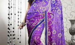 Cloth/Shoes/Accessories: Women Type: Sarees Product Code: JAFSR6814VPSPOD Fabdeal Casual Wear Purple Colored Pure Georgette Saree With Unstiched Blouse It?s time to dazzle the floor through the apparel which has all desired qualities! Enrich your feminine