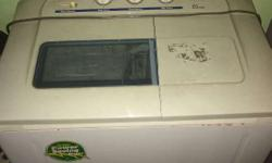 LG Washing Machine 6ltr. Model- WP-9005 Colour- White Wash and Dry Both Functions Working Condition 240 Watts Power Saving Motor With Bill