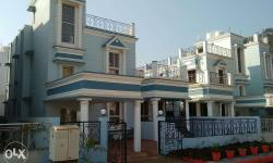 Lily Bungalow, 3 BHK, Freehold property, fully furnished (AC, Fridge, Fans, Decorative Lights, curtains) with additional Civil & steelwork, decorative, electrical appliances & fittings, Plot area is 2691 sq ft and super built up area is 2024 sq ft. is for