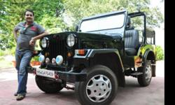 Dark Metallic Blue Mahindra CLASSIC short chasis OPEN JEEP ,recently overhauled,two wheel drive,with brand new bucket seats. Diesel PUEGOT engine with a city average of 10-12 km/l.All 4 tyres new with new battery. All papers upto date. Registered in